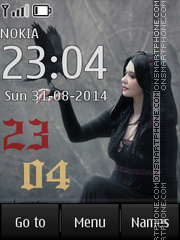 Gothic Clock theme screenshot