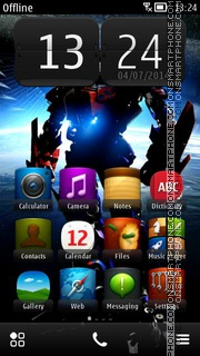 Transformer 06 tema screenshot