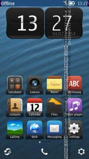 Blue Wave 06 tema screenshot