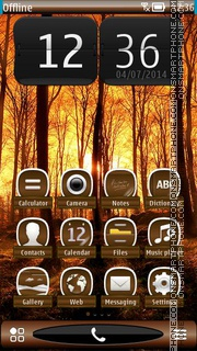 Autumn Sunrise HD theme screenshot