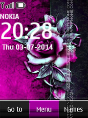 Purple Rose 03 theme screenshot