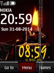 Zippo Digital Clock 01 es el tema de pantalla