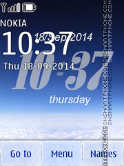 Blue Sky Clock theme screenshot