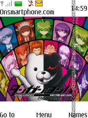 Danganronpa theme screenshot