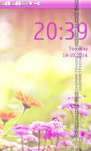 Marigold Lilac Purple theme screenshot