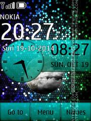 Stars with Analog Clock es el tema de pantalla