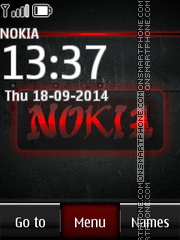 Nokia Red Icons tema screenshot