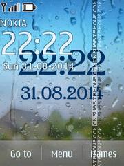 Rain Clock theme screenshot