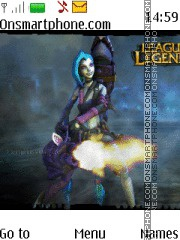 League of Legends Jinx tema screenshot