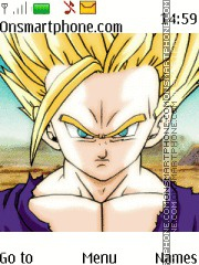 Dragon Ball Z Gohan theme screenshot
