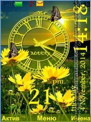 Flowers yellow theme screenshot