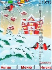 Birds Winter theme screenshot