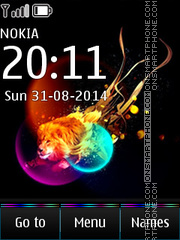 Abstract Lion 04 es el tema de pantalla