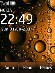 Drops of brown theme screenshot