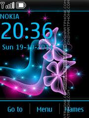 Neon Butterflies 01 theme screenshot