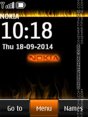 Nokia with Flame Icons es el tema de pantalla