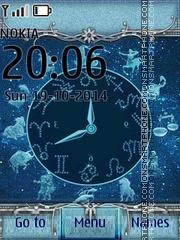 Zodiac Clock 03 es el tema de pantalla