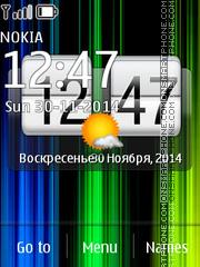 Fancy Clock 02 theme screenshot