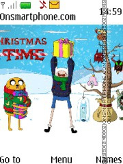 Adventure Time Christmas theme screenshot