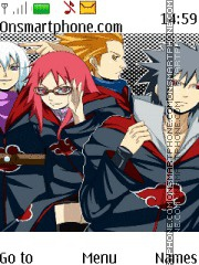 Naruto Team Taka Akatsuki theme screenshot