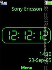 Black Green clock es el tema de pantalla