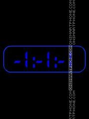 Black & Blue clock es el tema de pantalla