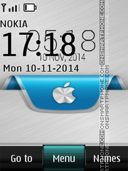 Apple iOS Digital Clock theme screenshot