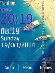 Summer Boat theme screenshot