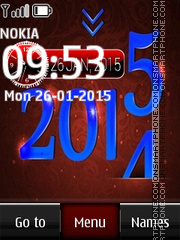 2015 Year Digital Clock es el tema de pantalla