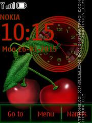 Cherry Clock 01 es el tema de pantalla