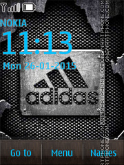 Addidas Dark Logo Theme-Screenshot