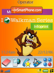 Tazman W950 Sony Ericsson theme screenshot