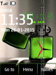 Dual Lighter Zippo Clock es el tema de pantalla