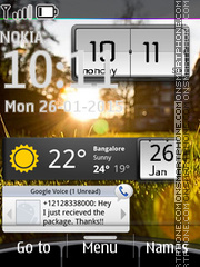 Clock with Android Widgets theme screenshot