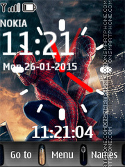 Spiderman with Clock es el tema de pantalla
