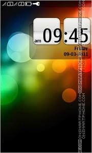 Скриншот темы Abstract Color Bokeh