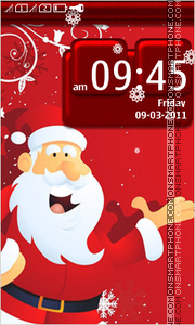 Santa Claus 09 theme screenshot