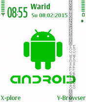 Green Android theme screenshot