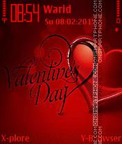 Valentine love es el tema de pantalla