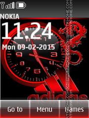 Adidas Clock 03 es el tema de pantalla