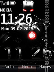 Iron Man Black Clock theme screenshot