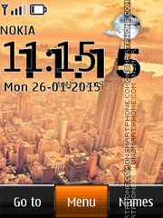 New York City Live Clock es el tema de pantalla