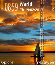 Sea sunset es el tema de pantalla