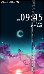 Anime Girl in Sky theme screenshot