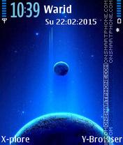 Blue Planets tema screenshot