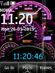 Speedmeter Clock 01 es el tema de pantalla