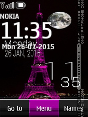 Eiffel Tower Clock 02 es el tema de pantalla