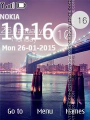 Bridge Clock 02 es el tema de pantalla