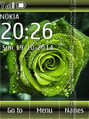 Green Rose 02 theme screenshot