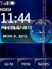 iPhone Clock 03 tema screenshot